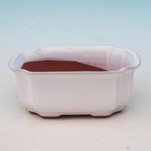 Bonsai ceramic bowl H 01, white