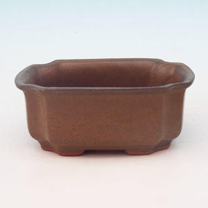 Bonsai ceramic bowl H 01, Brown