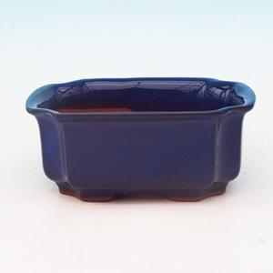 Bonsai ceramic bowl H 01, blue