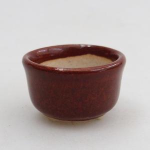 Mini bonsai bowl 2,5 x 2,5 x 2 cm, color brown