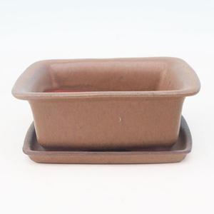 Bonsai bowl tray of water H11 +, blue