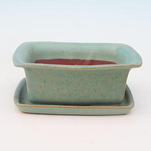 Bonsai bowl tray of water H11 +, green