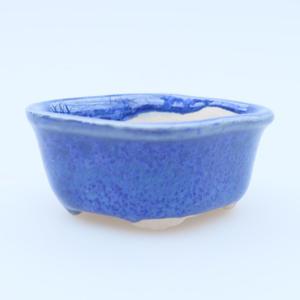 Mini bonsai bowl 5 x 4 x 2 cm, color blue