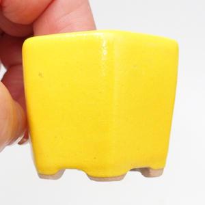 Mini bonsai bowl 4 x 4 x 3,5 cm, yellow color