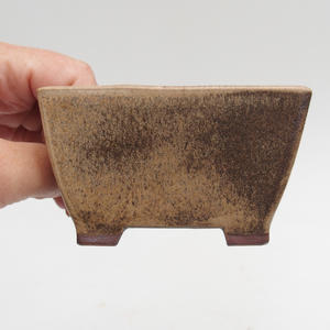Ceramic bonsai bowl 9 x 9 x 5 cm, color brown