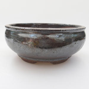 Ceramic bonsai bowl - 16 x 16 x 7 cm, color green
