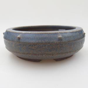 Ceramic bonsai bowl - 15 x 15 x 5 cm, color blue