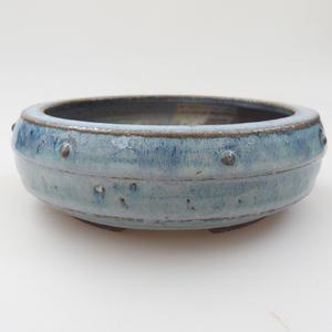 Ceramic bonsai bowl - 16 x 16 x 5 cm, color blue