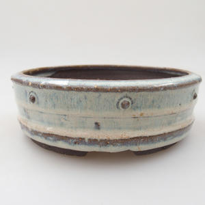 Ceramic bonsai bowl - 16 x 16 x 5 cm, color blue