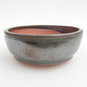 Ceramic bonsai bowl 11 x 11 x 4,5 cm, color green