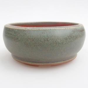 Ceramic bonsai bowl 10 x 10 x 4,5 cm, color green