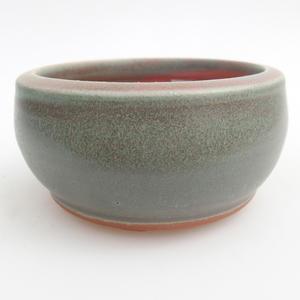 Ceramic bonsai bowl 10 x 10 x 5 cm, color green