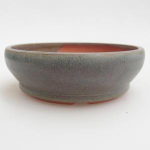 Ceramic bonsai bowl 11,5 x 11,5 x 3,5 cm, color green