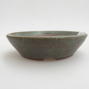 Ceramic bonsai bowl 9 x 9 x 2 cm, color green