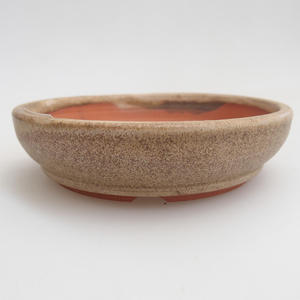 Ceramic bonsai bowl 11 x 11 x 3 cm, color beige