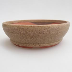 Ceramic bonsai bowl 10 x 10 x 3 cm, color beige