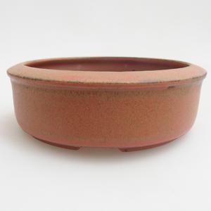 Ceramic bonsai bowl 12 x 12 x 4 cm, color red