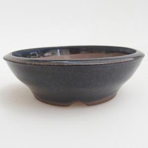 Ceramic bonsai bowl 10 x 10 x 3 cm, color blue