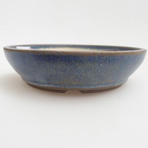 Ceramic bonsai bowl 12 x 12 x 3 cm, color blue