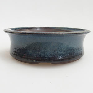 Ceramic bonsai bowl 13 x 13 x 4 cm, color blue