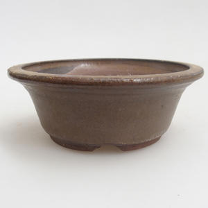Ceramic bonsai bowl 11 x 11 x 4 cm, brown color