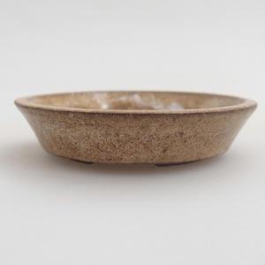 Ceramic bonsai bowl 5,5 x 5,5 x 1 cm, color beige