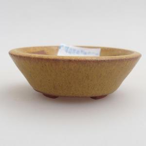 Ceramic bonsai bowl 5,5 x 5,5 x 1,5 cm, yellow color