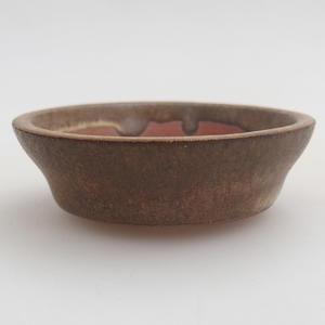 Ceramic bonsai bowl 6 x 6 x 1,5 cm, color brown