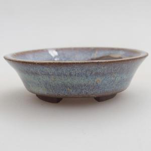 Ceramic bonsai bowl 5,5 x 5,5 x 1,5 cm, color blue