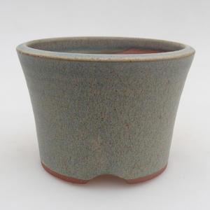 Ceramic bonsai bowl 10.5 x 10.5 x 7.5 cm, color blue
