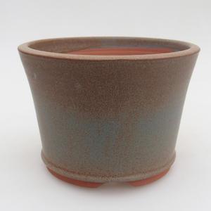 Ceramic bonsai bowl 11,5 x 11,5 x, 5 cm, color blue
