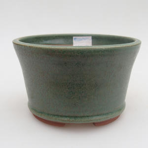 Ceramic bonsai bowl 12 x 12 x 7,5 cm, color green