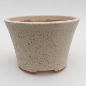 Ceramic bonsai bowl 11 x 11 x 7,5 cm, color beige
