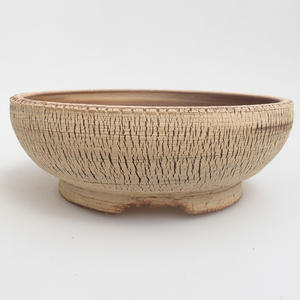 Ceramic bonsai bowl 18,5 x 18,5 x 6,5 cm, color brown