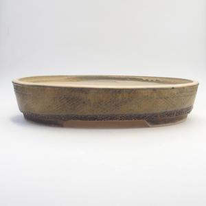 Bonsai miska 35,5 x 27,5 x 7 cm, barva šedobéžová