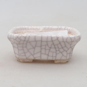 Ceramic bonsai bowl 2nd quality - 22 x 16 x 7,5 cm, brown-green color