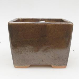 Ceramic bonsai bowl 2nd quality - 11 x 11 x 8,5 cm, color green