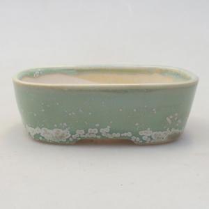 Ceramic bonsai bowl 2nd quality - 11 x 11 x 8,5 cm, brown color