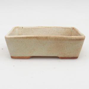 Ceramic bonsai bowl 2nd quality -12,5 x 9 x 4 cm, color gray