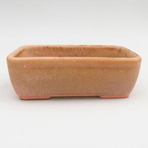 Ceramic bonsai bowl 2nd quality - 16 x 10 x 5,5 cm, brown-pink color