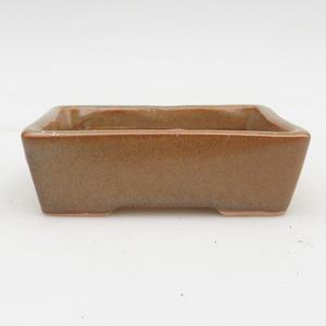 Ceramic bonsai bowl 2nd quality - 12 x 9 x 3,5 cm, color gray