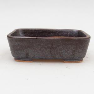Ceramic bonsai bowl 2nd quality - 12 x 10 x 4 cm, brown color