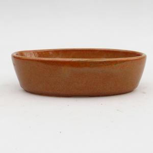 Ceramic bonsai bowl 2nd quality - 15 x 9 x 4 cm, brown color