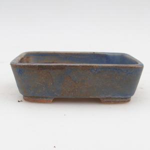 Ceramic bonsai bowl 2nd quality - 12 x 10 x 4 cm, brown-blue color
