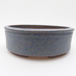Ceramic bonsai bowl 16 x 16 x 5,5 cm, color blue