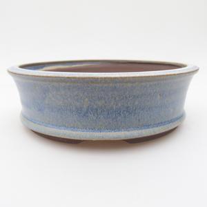Ceramic bonsai bowl 16 x 16 x 5 cm, color blue