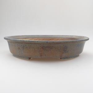 Ceramic bonsai bowl 29 x 25 x 6 cm, color blue