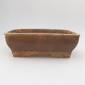 Ceramic bonsai bowl 17,5 x 14,5 x 5,5 cm, color brown
