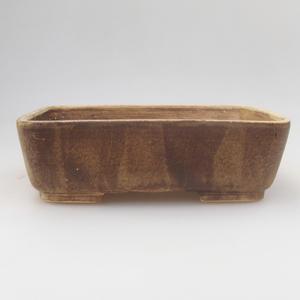 Ceramic bonsai bowl 18 x 15 x 5 cm, yellow-brown color