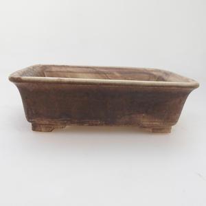 Ceramic bonsai bowl 17 x 14 x 5 cm, brown color